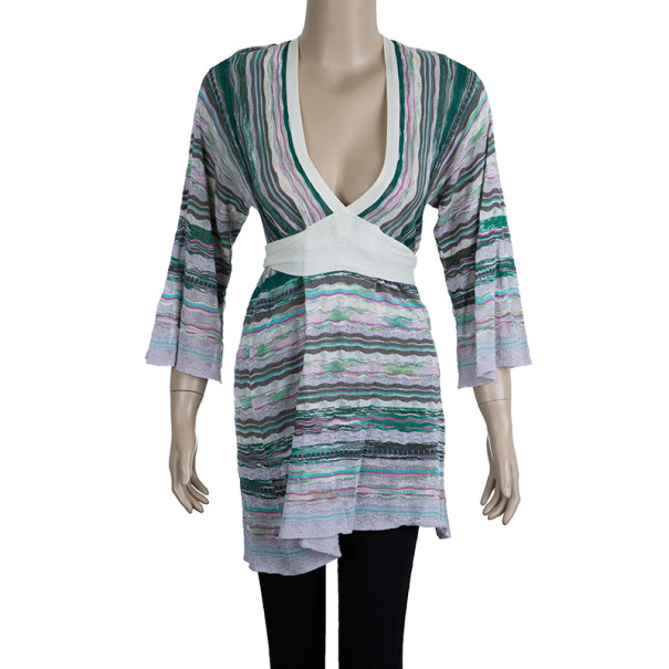 M Missoni Multicolor Crochet Knit Top M