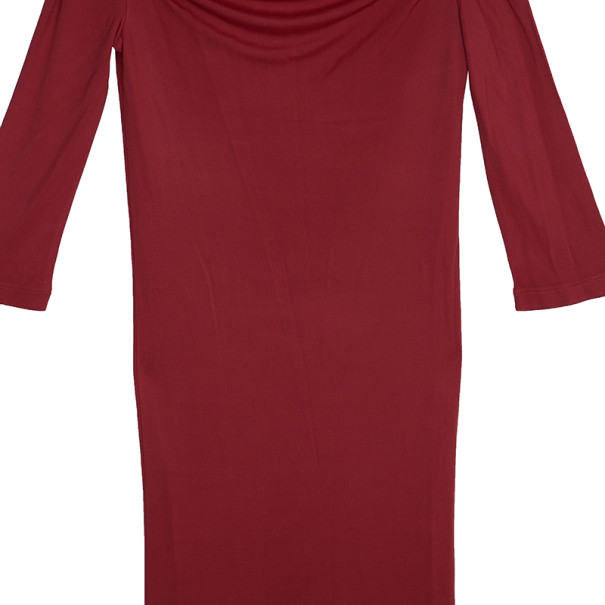 Red Valentino Red Off-Shoulder Dress S