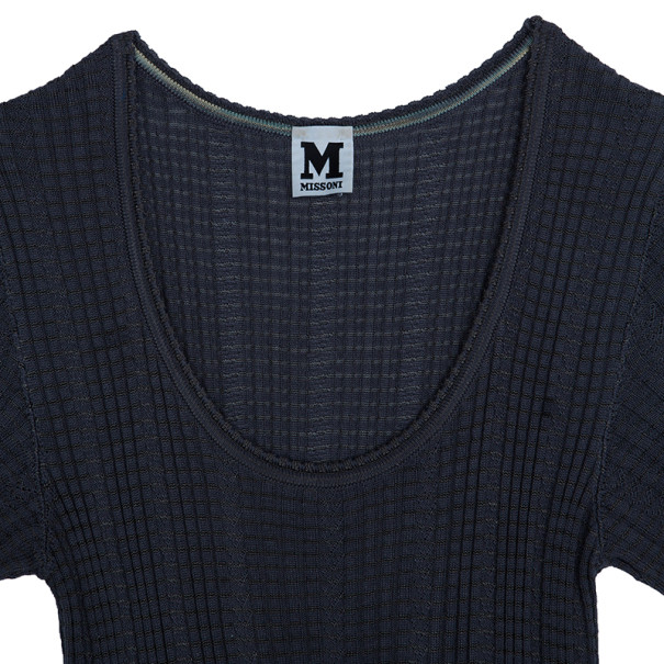 M Missoni Grey Knit Dress M
