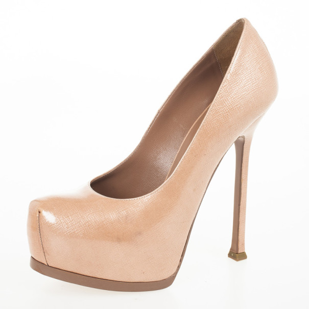 7098f8e269f3 ... promo code for yves saint laurent nude patent tribute two pumps size  37.5. nextprev.