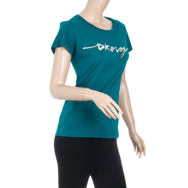 DKNY Turqoise T-shirt M