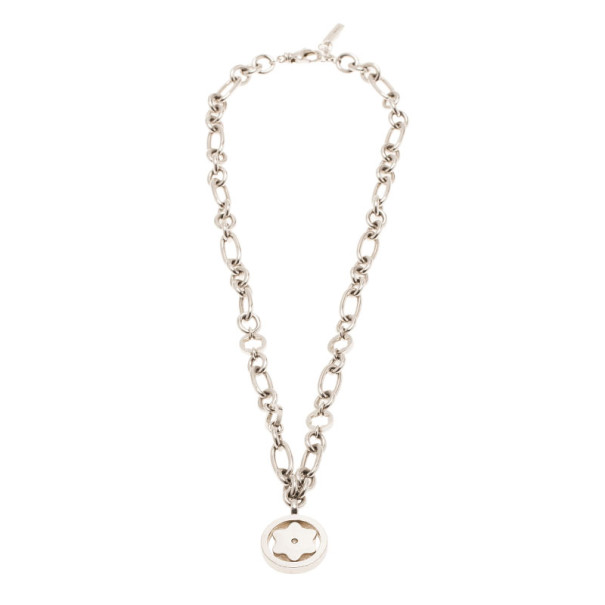 Montblanc Star Signet Diamond Silver Necklace