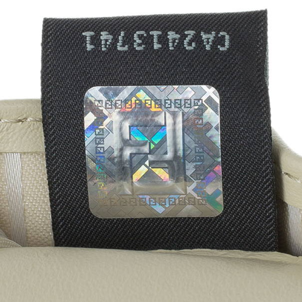 Fendi Beige Patent Leather Fendilicious WOC Shoulder Bag