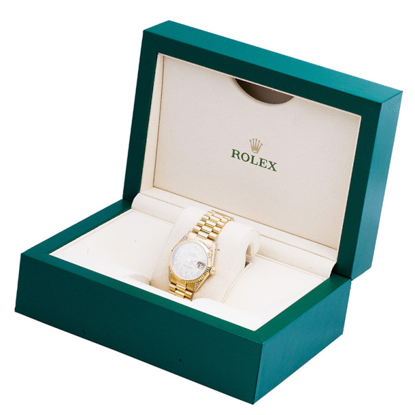 Rolex Silver and Gold 18K Yellow Gold DateJust Women's Wristwatch 31MM
