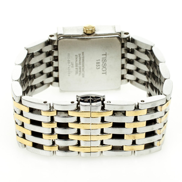 Tissot Six-T Two Tone Womens Wristwatch 21 MM