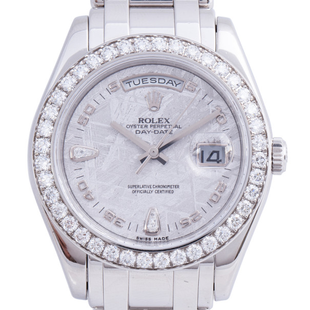 Rolex Meteorite Platinum Day Date Unisex Wristwatch 39MM