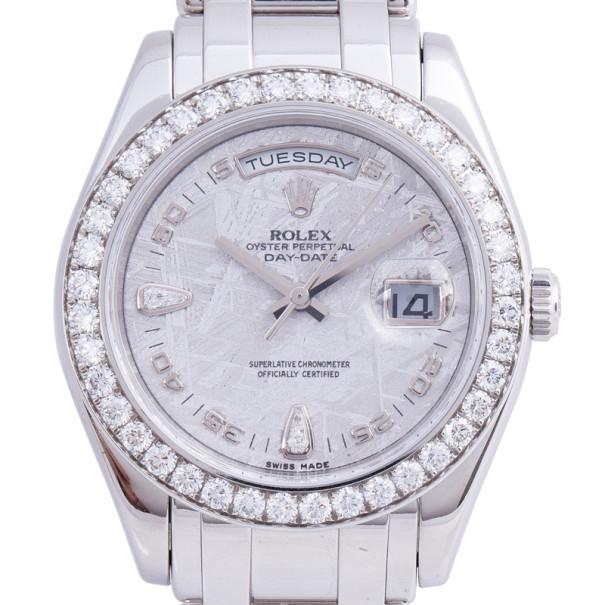 Rolex Meteorite Platinum Day Date Unisex Wristwatch 39MM
