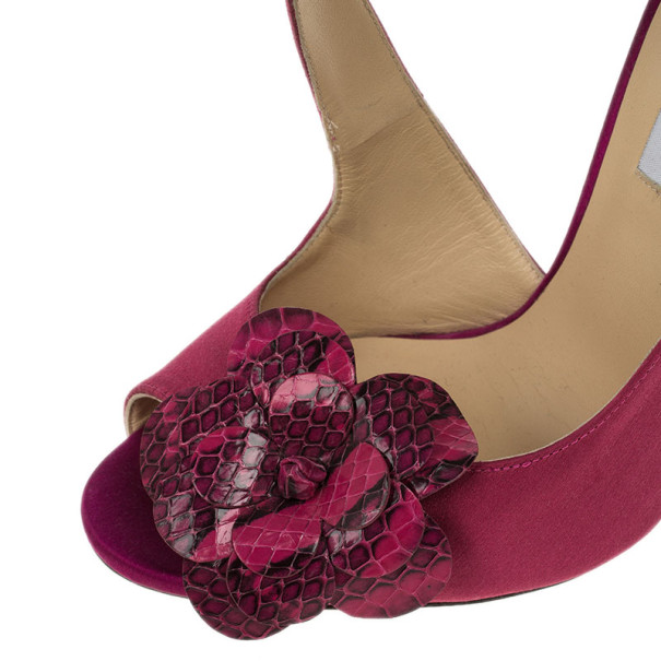 Jimmy Choo Pink Satin Vera Sandals Size 39