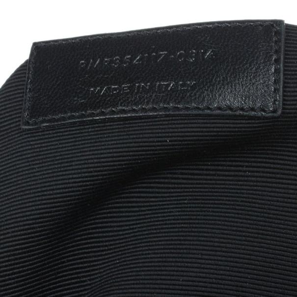 Saint Laurent Paris Beige Chevron Leather Classic Monogram Shopping Tote