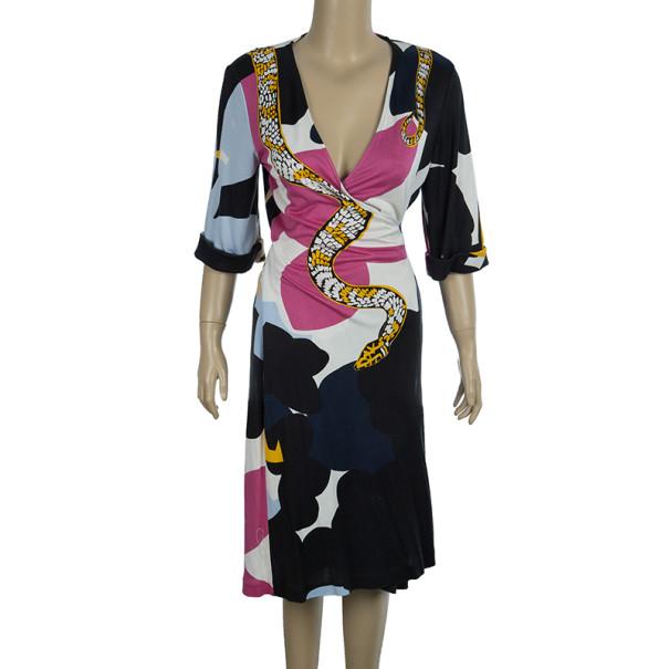 Diane Von Furstenberg 'Eve' Abstract Print Wrap Dress L