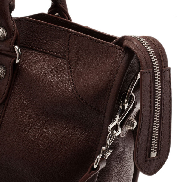 Balenciaga Brown Leather Giant City Tote