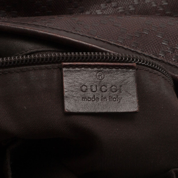 Gucci Brown Micro Guccissima Leather Joy Messenger Bag