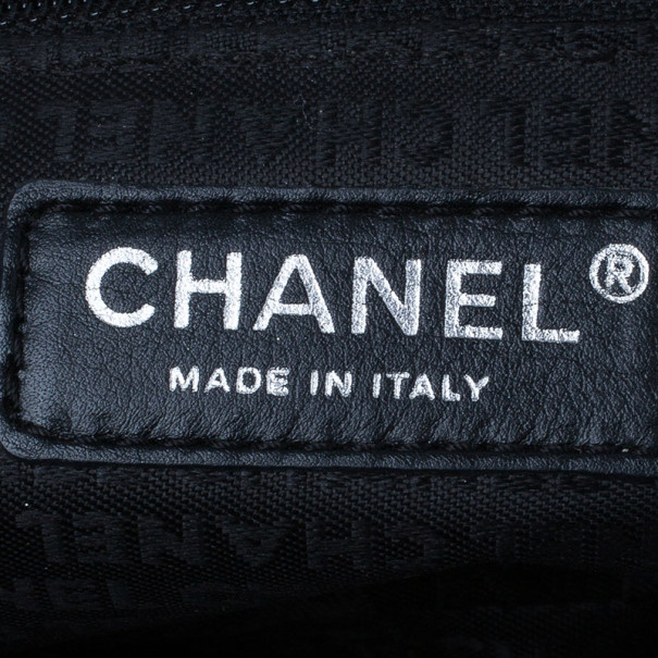 Chanel Black and Silver Tweed Cruise Collection Chain Flap Bag