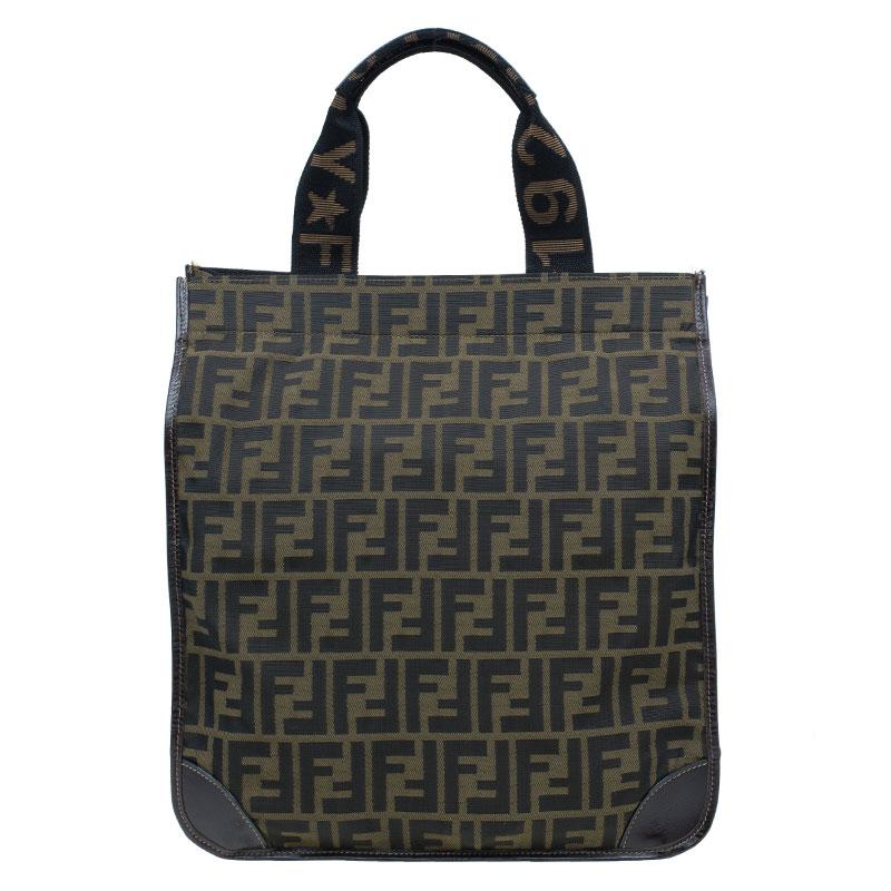 Fendi Zucca Tote Shopping Bag