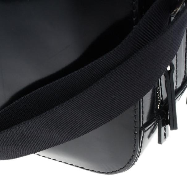 Dsquared2 Black Leather Men Travel Bag