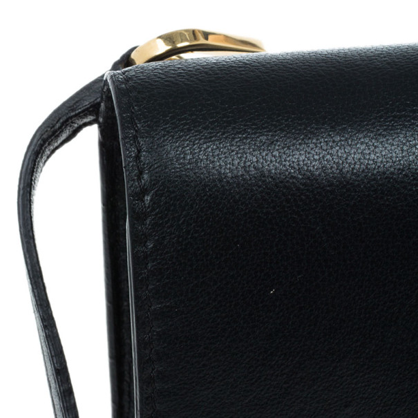Chloe Black Leather Bobbie Clutch