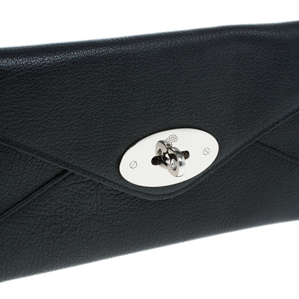 Mulberry Black Leather Envelope Wallet