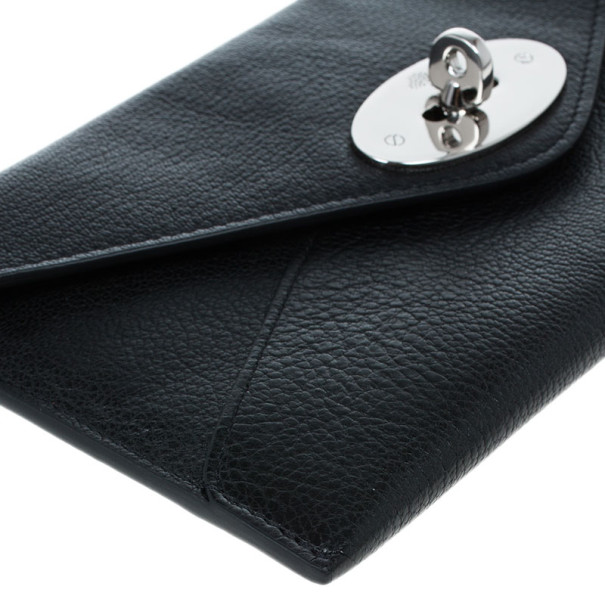 Mulberry Black Leather Envelope Wallet