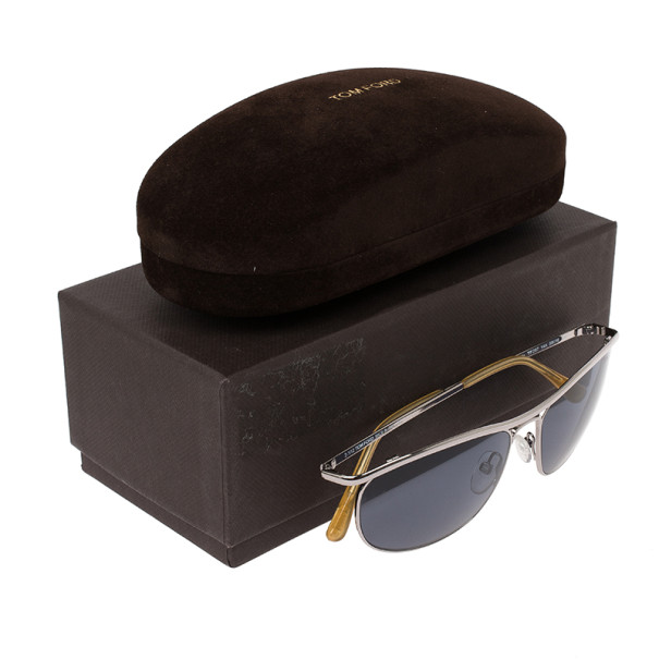 Tom Ford Silver Tate Unisex Aviators