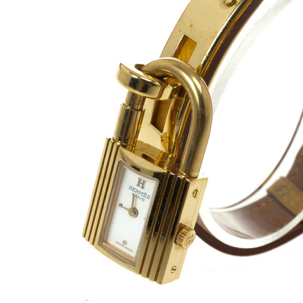 Hermes Kelly SS Leather Womens Wristwatch 20 MM