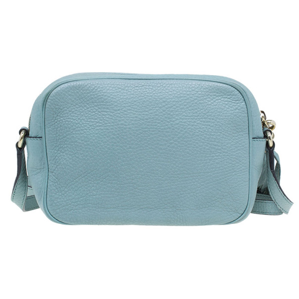 Gucci Aqua Leather Soho Disco Shoulder Bag