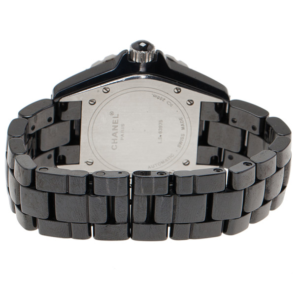 Chanel Black Ceramic J12 Unisex Wristwatch 39MM