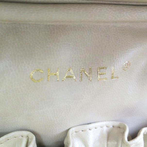Chanel Orange Caviar Vanity Flap Bag