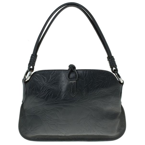 Valentino Black Leather Catch Shoulder Bag