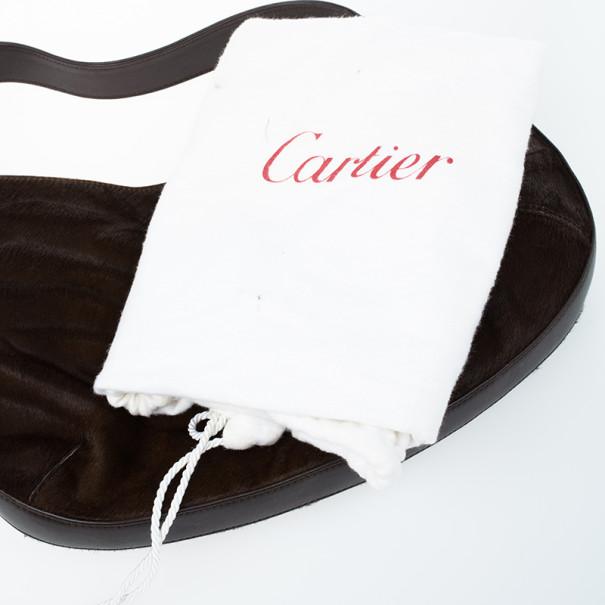 Cartier Brown Pony Hair Small Panthere de Cartier Bag