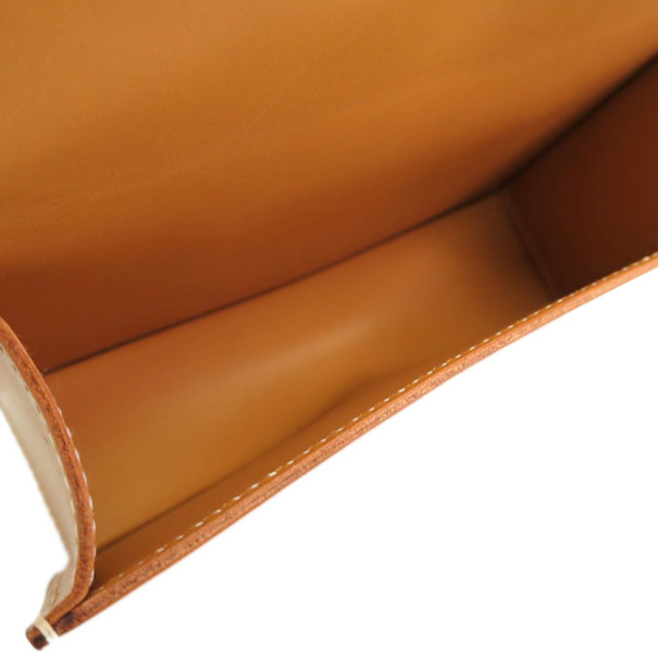 Hermes Vache Leather Mustard Clutch