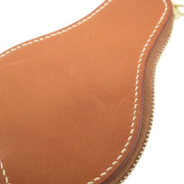 Hermes Barenia Leather Pear Coin Case