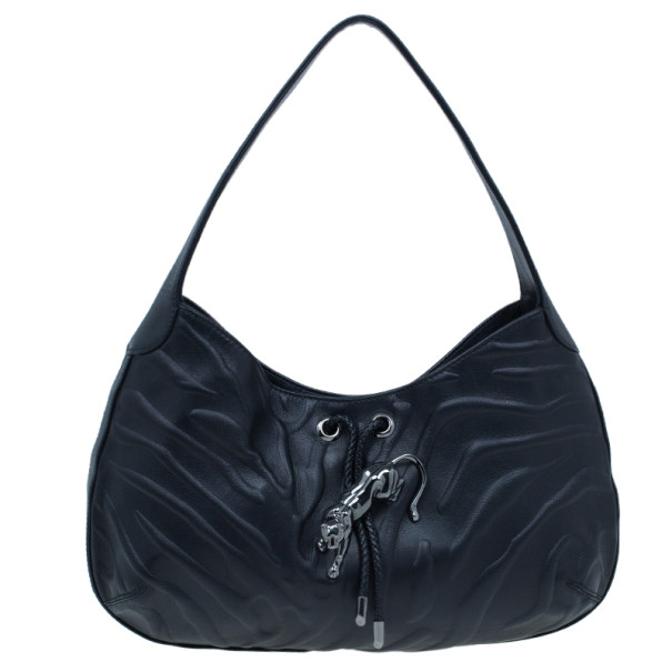 Cartier Black Leather Small Panthere de Cartier Bag
