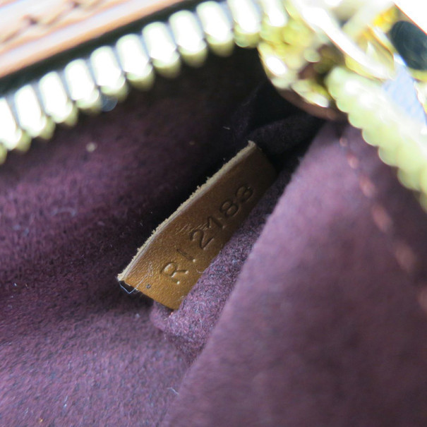Louis Vuitton Damier Ebene Pochette Ascot Clutch