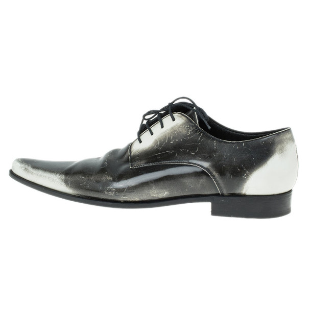 Dolce and Gabbana Two Tone Leather Oxfords Size 41.5