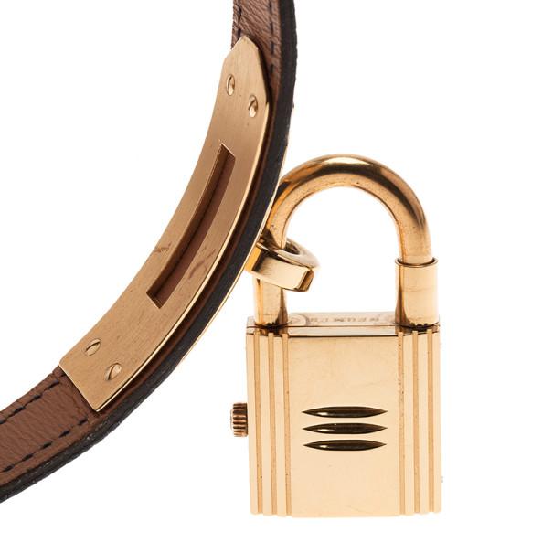 Hermes Blue Stainless Steel Kelly Women's Wristwatch 20MM
