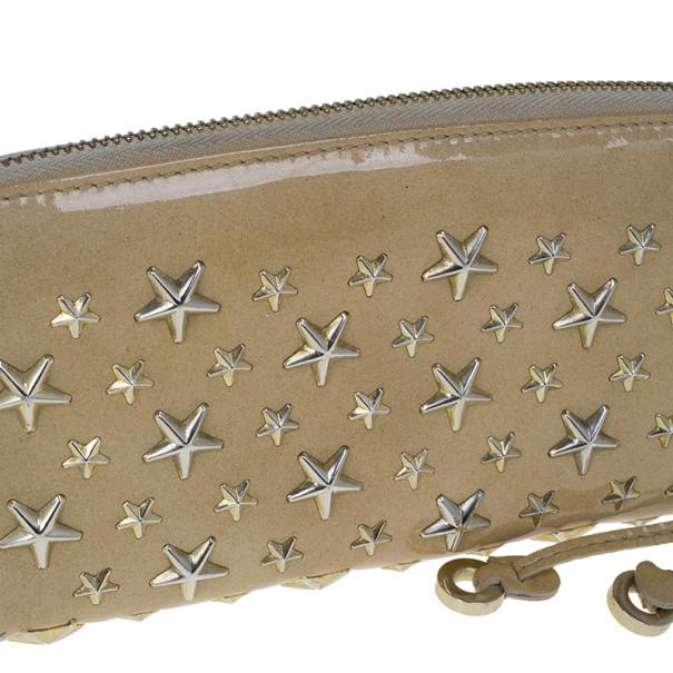 Jimmy Choo Beige Patent Leather Filipa Wallet