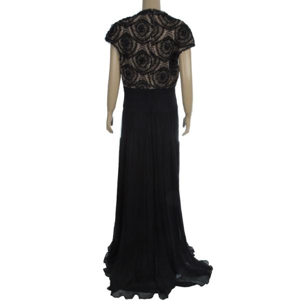 Tadashi Shoji Black Gown L