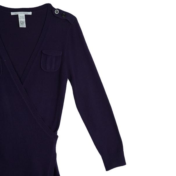 Diane Von Furstenberg 'Grodnica' Wool Wrap Dress L