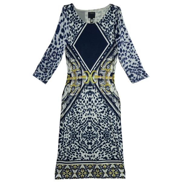 CLASS by Roberto Cavalli Printed Short Dress L