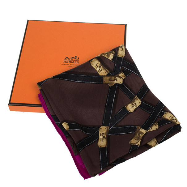 Hermes Tres Kelly Silk Square Scarf