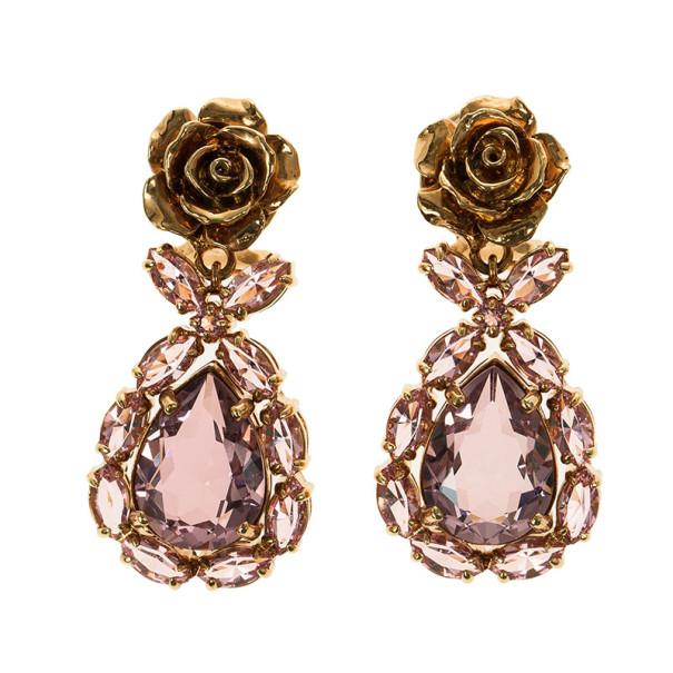 Prada Rose Crystal Earrings