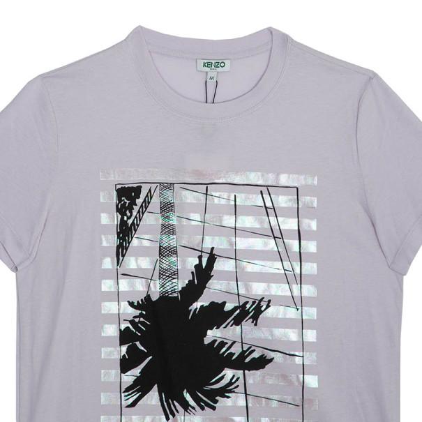 Kenzo Pink Printed T-Shirt M