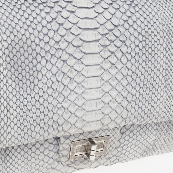 Chanel White Python 2.55 Reissue 226 Flap Bag