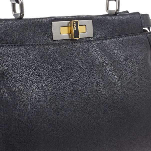 Fendi Black Small Pekaboo Satchel