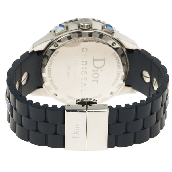 Dior Blue Stainless Steel Christal Women's Wristwatch 40MM