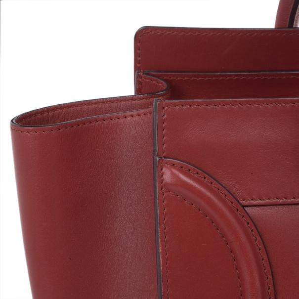 Celine Red Mini Luggage Tote