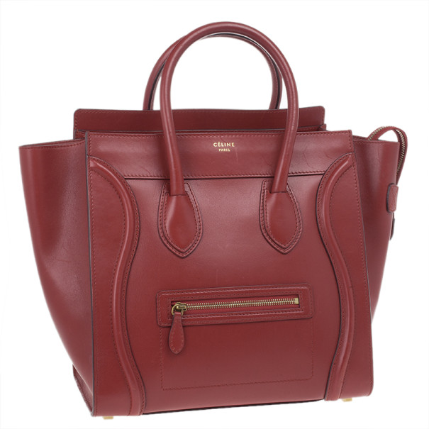 Celine Red Mini Luggage Tote