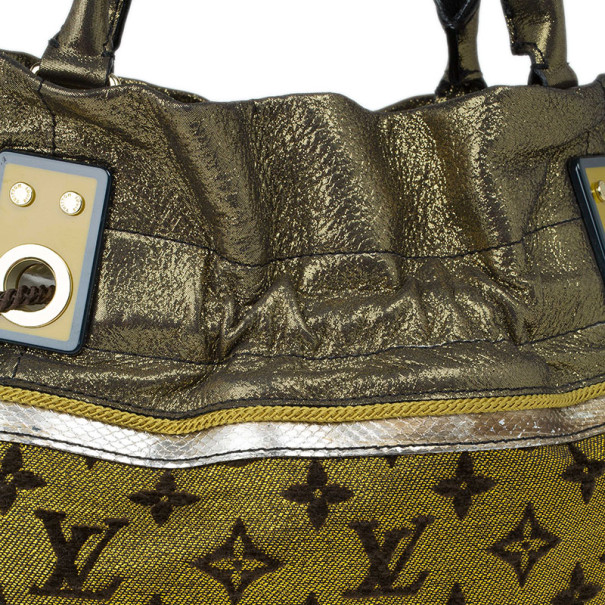 Louis Vuitton Gold Lurex Limited Edition Sunbird Bag