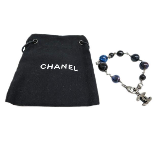 Chanel Blue Beads Bracelet 20CM