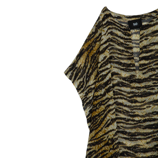 D and G Animal Print Kaftan M